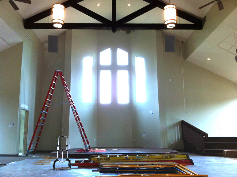 Rigging, Ladders Speakers during av installation