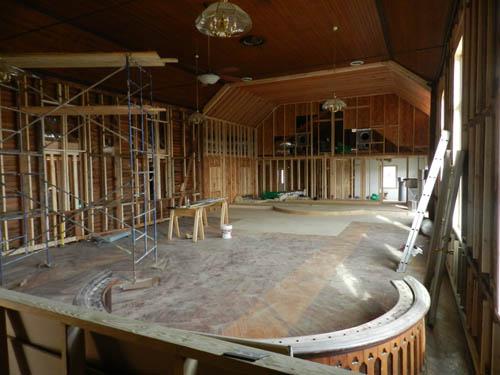 Church wooden Skeleton Interior before av