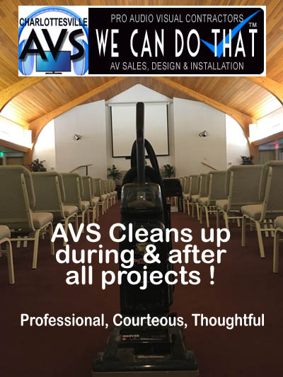 church audio visual charlottesville va clean up