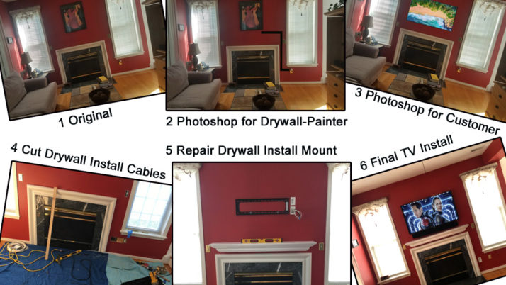 Fireplace TV Installation Charlottesville VA, Virginia