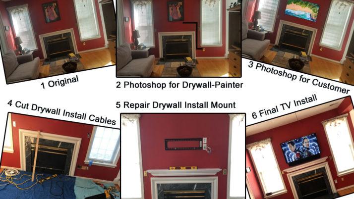 Fireplace TV Installation Charlottesville VA, Virginia